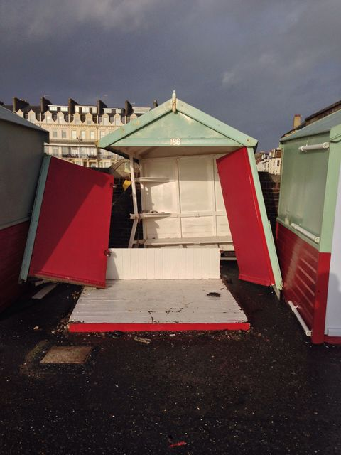 Uk storm damage in Hove