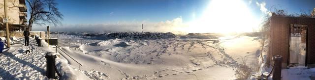 Lake Michigan at Fargo Beach