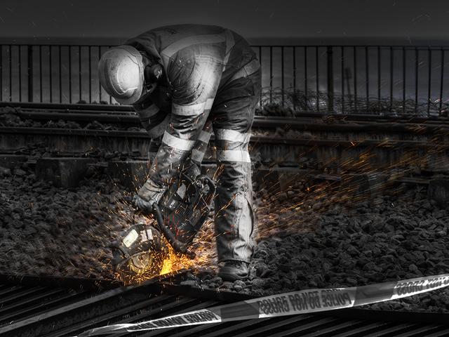 Railway Worker At Dawlish
