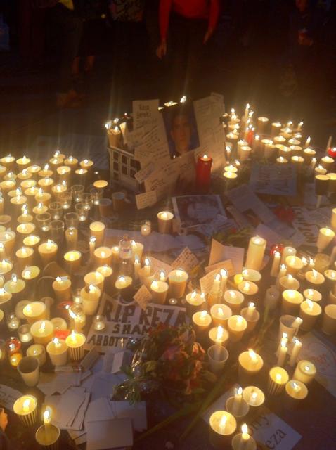 Vigil for Reza Berati