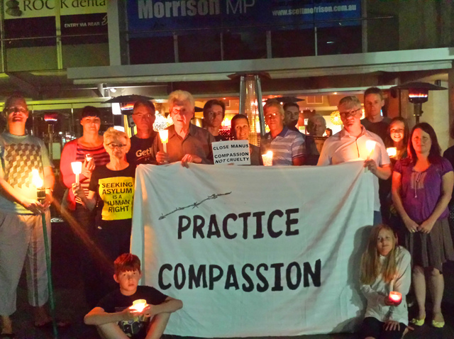 Light The Darkness at Scott Morrison's seat of Cook