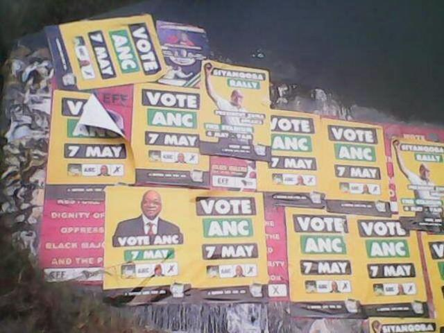 ANC covers EFF posters