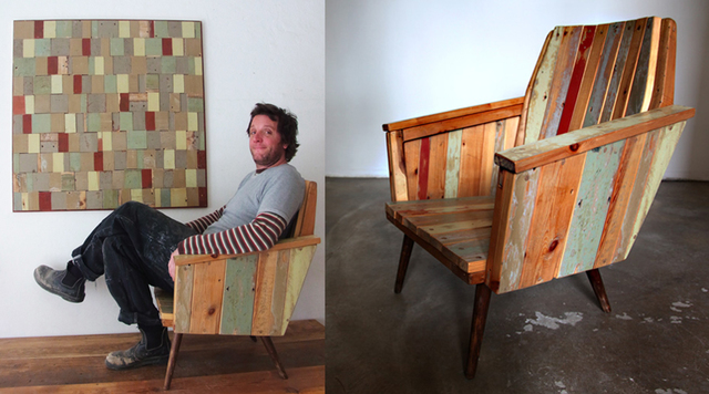 Remade Armchair and Offcuts Assemblage