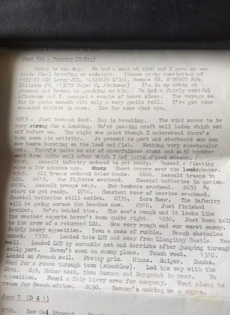 My Grandad's D-Day Diary