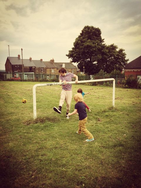 Football in Hodkins Park, Gateshead