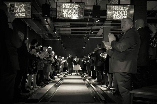 The UK's first wedding in a bowling alley