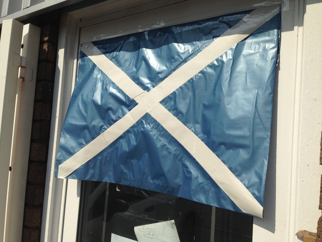 Flying the Saltire in St Albans UK