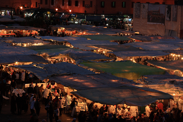 Marrakech, night market