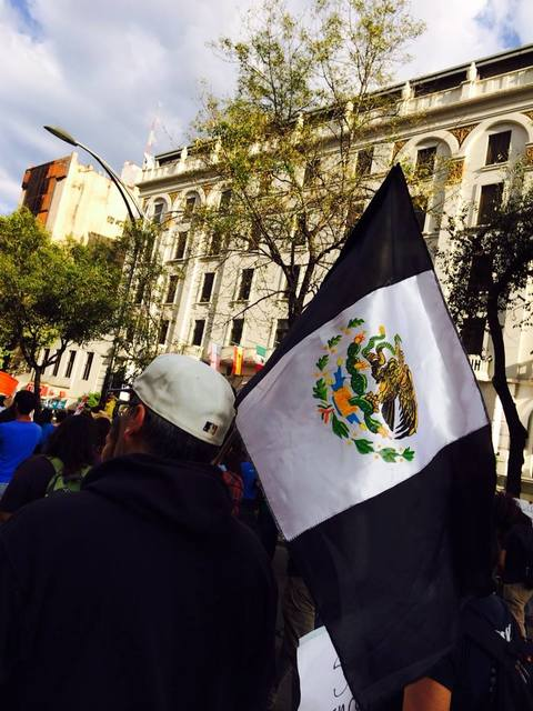 A Mexican flag in grief