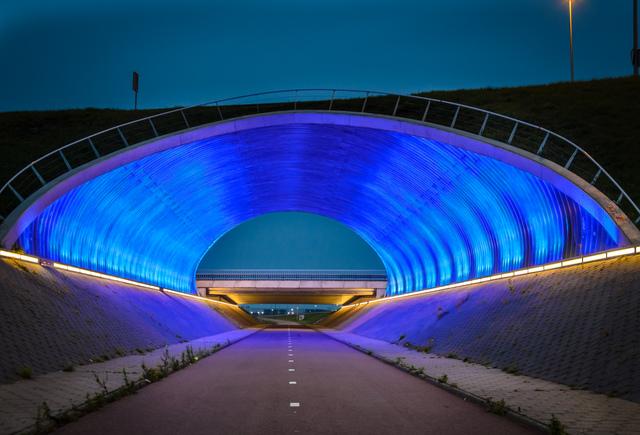 Modern cycling tunnel