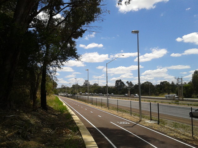 Latest addition to 100s of km of bike paths: Perth, Western Australia