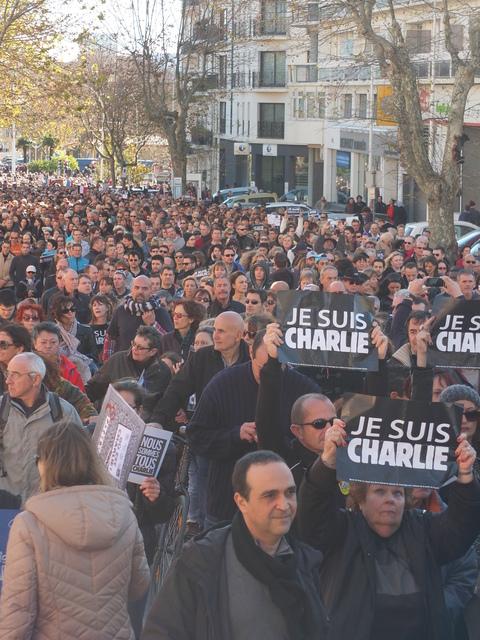 Je suis Charlie, Toulon, South of France.