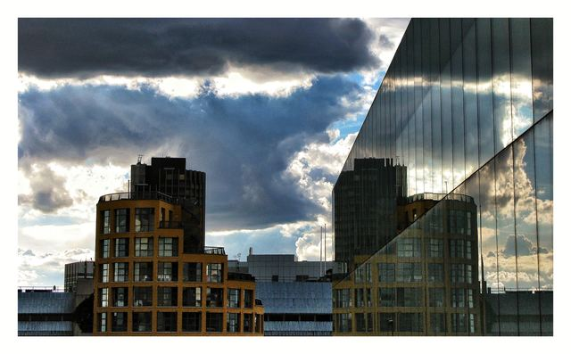 From the terrace of the Tate Modern members' room.