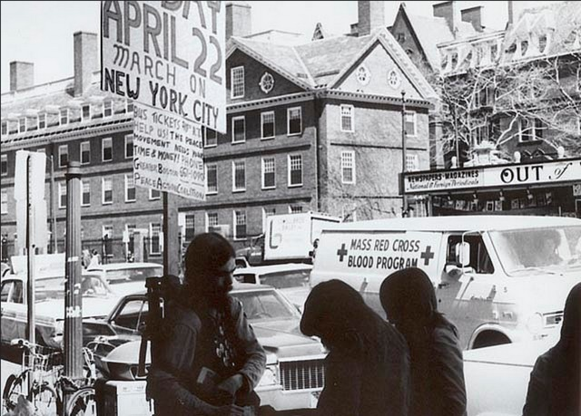 Donations for a Peace March, 1972