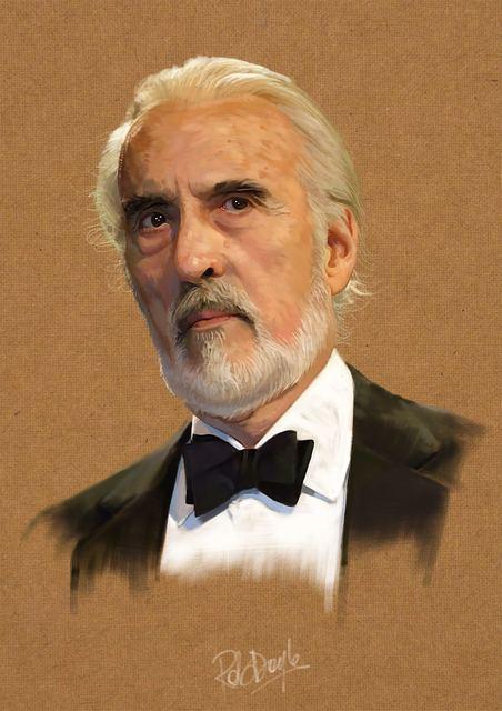 Digital Painting of Christopher Lee