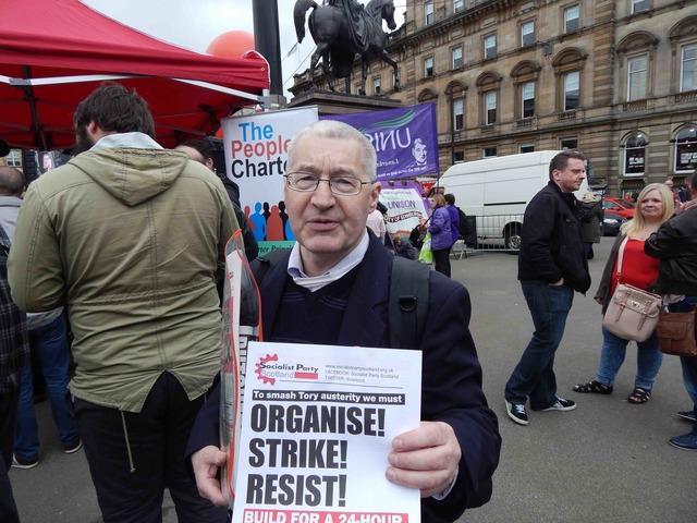 Anti-austerity demonstrator