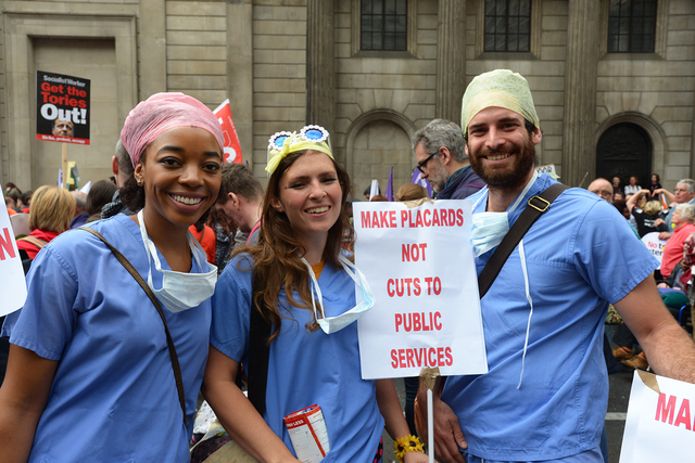 NHS Protest.