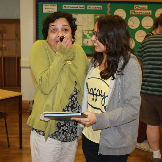 The reaction says it all – Eesha Savani reveals results to mum – 3A*!