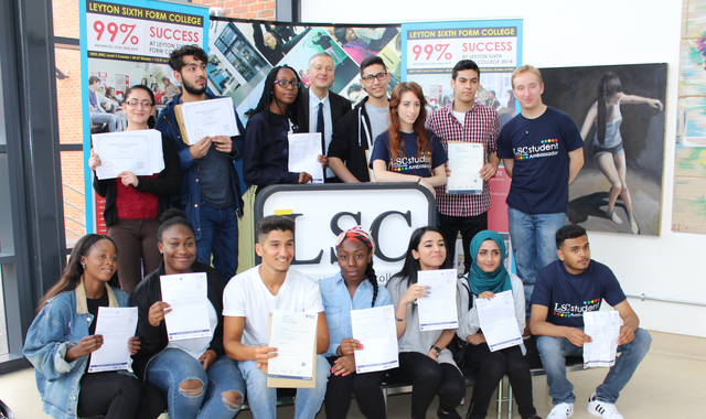 Leyton Sixth Form College celebrates record 99.7% A Level Pass Rate