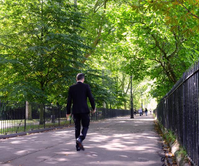 Man on Path - Highbury Fields