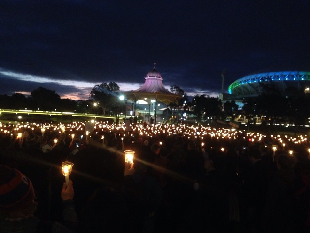 Lighting the dark in Adelaide tonight #LightTheDark