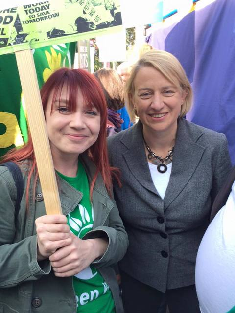 Natalie with Sunderland Greens in Manchester
