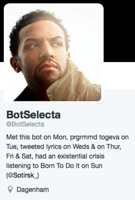 @BotSelecta - programmed to tweet Craig David lyrics