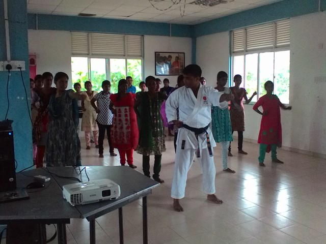 Self defense training in Sri Lanka, organised by ZOA