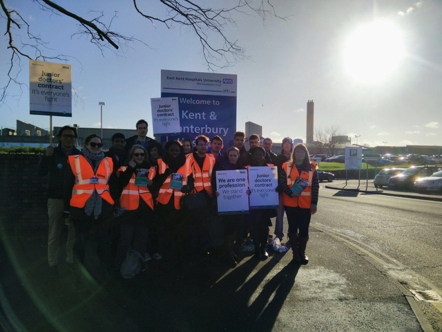 Kent & Canterbury junior doctors' picket