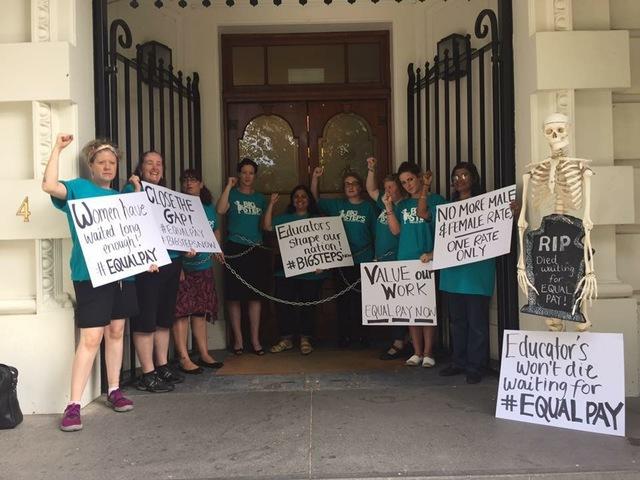 Big Steps Equal Pay Protest
