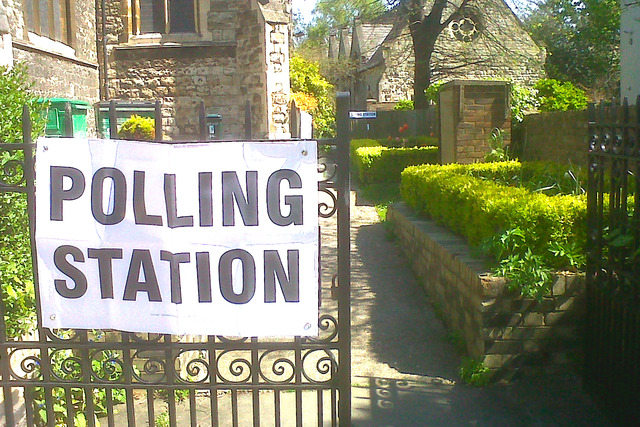 Polling Station in a church hall in South Hampstead