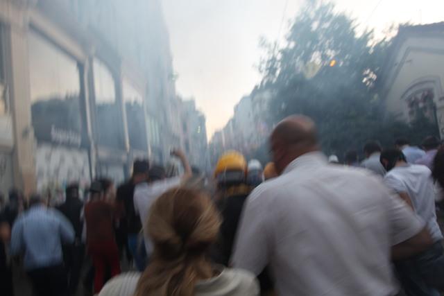 Teargas! Run!
