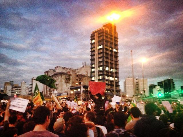 Protest in Sao Paulo -  Largo da Batata
