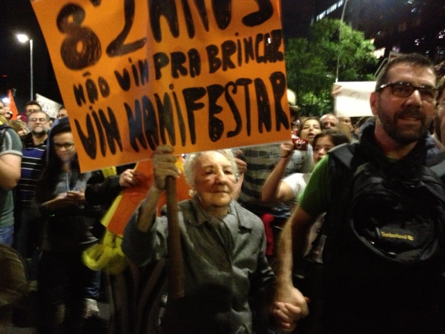 82-year-old protester