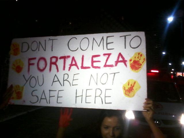 Protest against violence in Fortaleza-Brazil.
