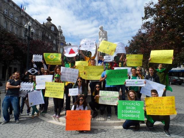 Brazil protests in Portugal!