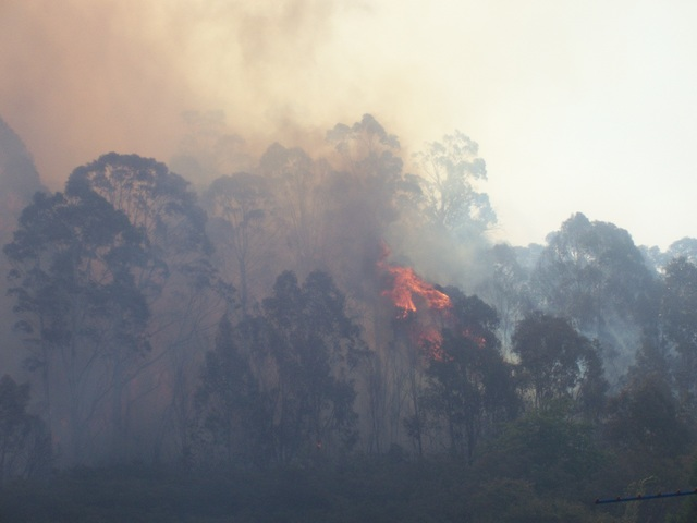 Fire in Oaky Park, Lithgow, NSW