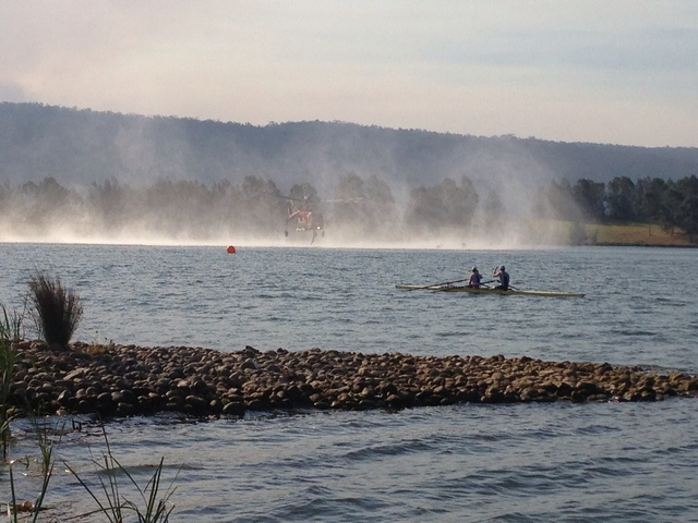Skycrane refilling during Rowing Regatta