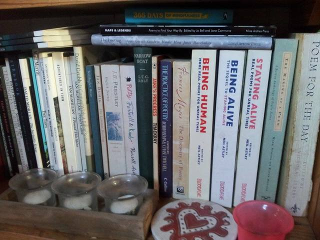 Bookshelf on my narrowboat