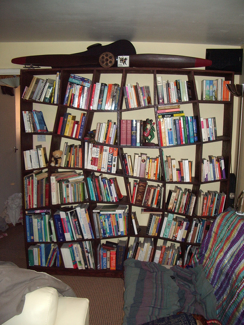 Curvy bookshelf