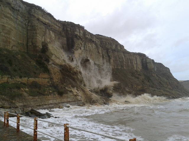 Cliff fall in Hastings