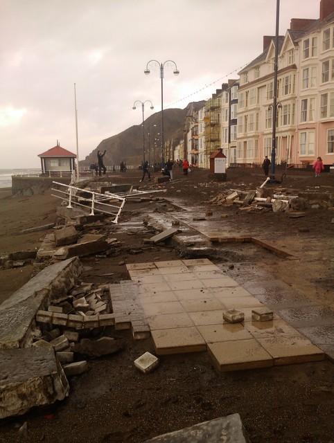 Aberystwyth Promenade - the aftermath