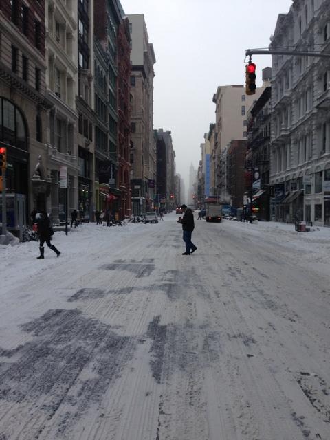 Broadway at rush hour