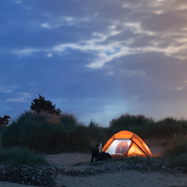 Wild camping on Hunstanton Beach in Norfolk