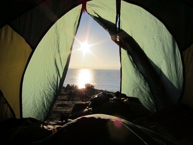 Cliff top wild camp