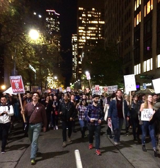 Anti-Trump Rally - Downtown Seattle