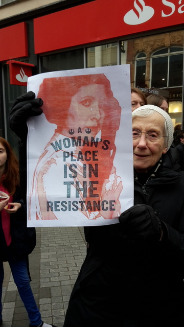 Leeds solidarity Women's March against Darth Trump