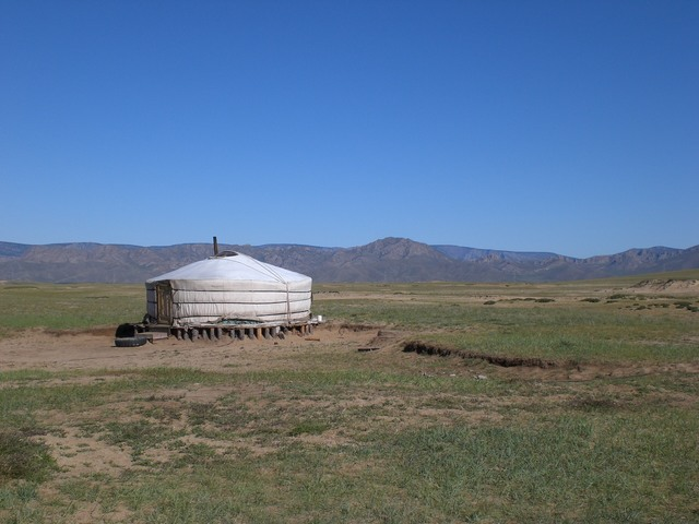 Yurt in the Gobi Desert