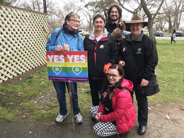 Our family walks for equality in Ballarat