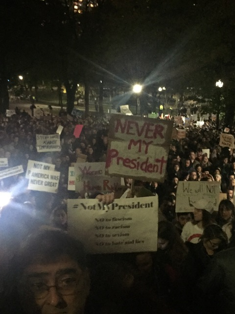 Thousands in Boston March against Trump/Pence